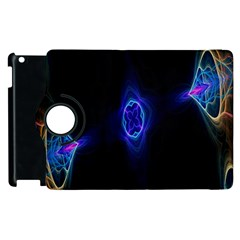 Lightning Kaleidoscope Art Pattern Apple Ipad 2 Flip 360 Case by Celenk