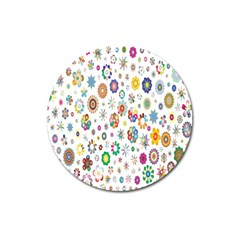 Design Aspect Ratio Abstract Magnet 3  (round) by Celenk