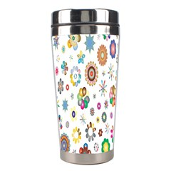 Design Aspect Ratio Abstract Stainless Steel Travel Tumblers by Celenk