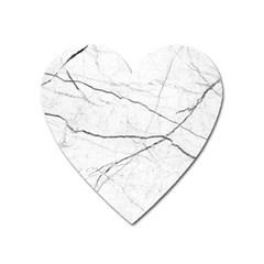 White Background Pattern Tile Heart Magnet by Celenk