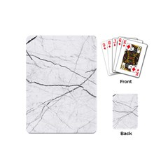 White Background Pattern Tile Playing Cards (mini)  by Celenk