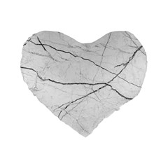 White Background Pattern Tile Standard 16  Premium Flano Heart Shape Cushions by Celenk