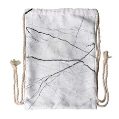 White Background Pattern Tile Drawstring Bag (large) by Celenk