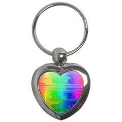 Colors Rainbow Chakras Style Key Chains (heart)  by Celenk