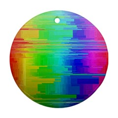 Colors Rainbow Chakras Style Round Ornament (two Sides) by Celenk