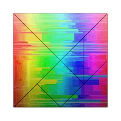 Colors Rainbow Chakras Style Acrylic Tangram Puzzle (6  X 6 ) by Celenk