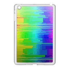 Colors Rainbow Chakras Style Apple Ipad Mini Case (white) by Celenk