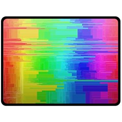 Colors Rainbow Chakras Style Double Sided Fleece Blanket (large)  by Celenk
