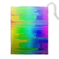 Colors Rainbow Chakras Style Drawstring Pouches (xxl) by Celenk