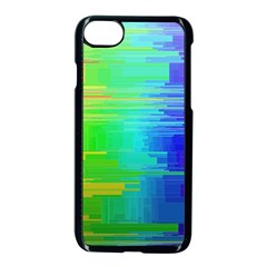 Colors Rainbow Chakras Style Apple Iphone 8 Seamless Case (black) by Celenk