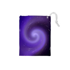 Spiral Lighting Color Nuances Drawstring Pouches (small)  by Celenk