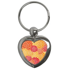 Abstract Art Background Colorful Key Chains (heart)  by Celenk
