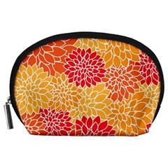 Abstract Art Background Colorful Accessory Pouches (large)  by Celenk