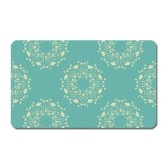 Floral Vintage Royal Frame Pattern Magnet (rectangular) by Celenk
