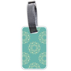 Floral Vintage Royal Frame Pattern Luggage Tags (two Sides) by Celenk