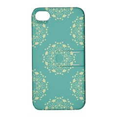 Floral Vintage Royal Frame Pattern Apple Iphone 4/4s Hardshell Case With Stand by Celenk