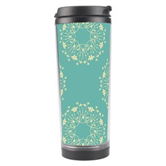 Floral Vintage Royal Frame Pattern Travel Tumbler by Celenk