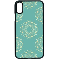 Floral Vintage Royal Frame Pattern Apple Iphone X Seamless Case (black) by Celenk