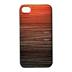 Background Red Orange Modern Apple Iphone 4/4s Hardshell Case With Stand by Celenk