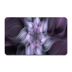 Fractal Flower Lavender Art Magnet (rectangular) by Celenk