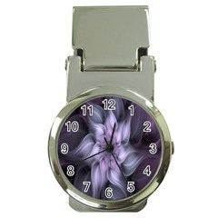 Fractal Flower Lavender Art Money Clip Watches by Celenk