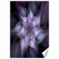 Fractal Flower Lavender Art Canvas 12  X 18   by Celenk