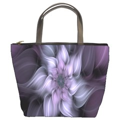 Fractal Flower Lavender Art Bucket Bags by Celenk
