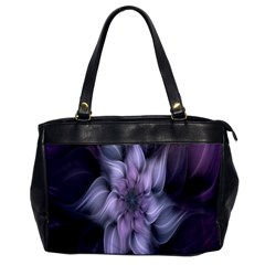 Fractal Flower Lavender Art Office Handbags by Celenk