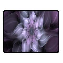 Fractal Flower Lavender Art Fleece Blanket (small) by Celenk
