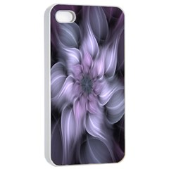 Fractal Flower Lavender Art Apple Iphone 4/4s Seamless Case (white) by Celenk