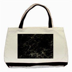 Black Texture Background Stone Basic Tote Bag by Celenk