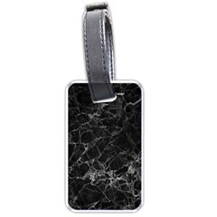 Black Texture Background Stone Luggage Tags (one Side)  by Celenk
