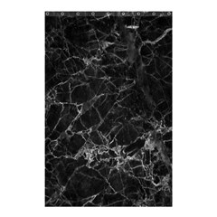 Black Texture Background Stone Shower Curtain 48  X 72  (small)  by Celenk