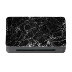 Black Texture Background Stone Memory Card Reader With Cf by Celenk