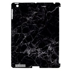Black Texture Background Stone Apple Ipad 3/4 Hardshell Case (compatible With Smart Cover) by Celenk