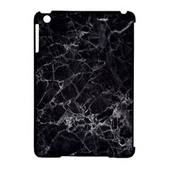 Black Texture Background Stone Apple Ipad Mini Hardshell Case (compatible With Smart Cover) by Celenk