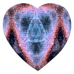 Sacred Geometry Mandelbrot Fractal Jigsaw Puzzle (heart) by Celenk