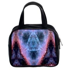 Sacred Geometry Mandelbrot Fractal Classic Handbags (2 Sides) by Celenk
