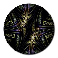 Fractal Braids Texture Pattern Round Mousepads by Celenk