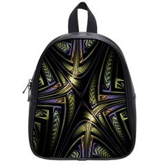 Fractal Braids Texture Pattern School Bag (small) by Celenk
