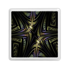 Fractal Braids Texture Pattern Memory Card Reader (square)  by Celenk