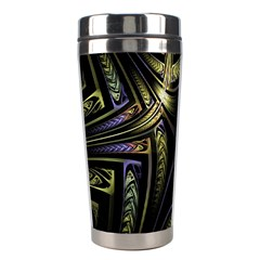 Fractal Braids Texture Pattern Stainless Steel Travel Tumblers by Celenk
