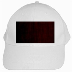Grunge Brown Abstract Texture White Cap by Celenk