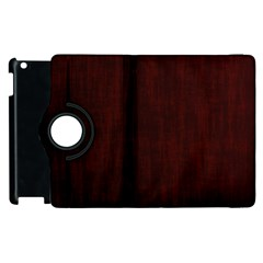 Grunge Brown Abstract Texture Apple Ipad 2 Flip 360 Case by Celenk