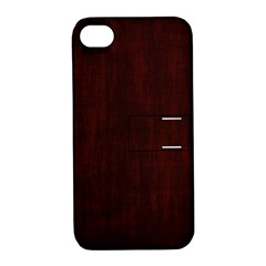 Grunge Brown Abstract Texture Apple Iphone 4/4s Hardshell Case With Stand by Celenk