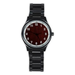 Grunge Brown Abstract Texture Stainless Steel Round Watch by Celenk