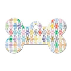 Background Wallpaper Spirals Twirls Dog Tag Bone (one Side) by Celenk