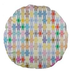 Background Wallpaper Spirals Twirls Large 18  Premium Flano Round Cushions by Celenk