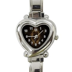 Beads Fractal Abstract Pattern Heart Italian Charm Watch by Celenk