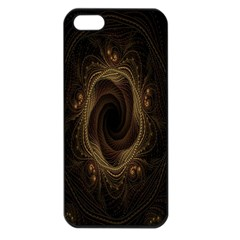 Beads Fractal Abstract Pattern Apple Iphone 5 Seamless Case (black)